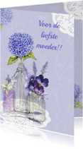 Moederdag kaarten - moederdag vaasjes bloemen