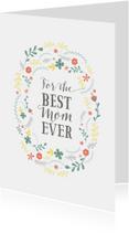 Moederdagkaart best mom letters