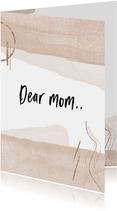 Moederdagkaart dear mom..