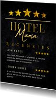Moederdagkaart HOTEL MAMA vijf sterren recensies