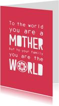 Moederdag kaarten - Moederdagkaart The world