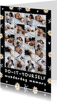 Moederdagkaart uitknip memory met eigen foto's