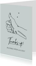 Motivationskarte Dankeschön 'Thumbs up'