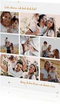 Muttertagskarte Fotocollage mit kleinen Herzen