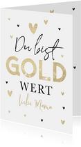 Muttertagskarte Gold wert