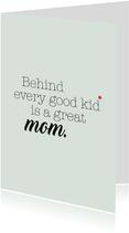 Muttertagskarte 'Great Mom'