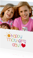Muttertagskarte 'happy mother's day!' bunt mit Foto