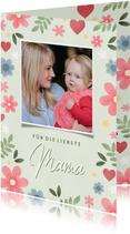 Muttertagskarte pastell mit Foto und Blumen
