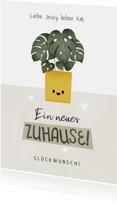 Neue Wohnung Glückwunschkarte Pflanze