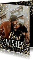 Neujahrs-Fotokarte 'Best Wishes'