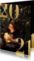 Neujahrskarte 2021 mit Fotohintergrund