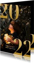 Neujahrskarte 2022 mit Fotohintergrund