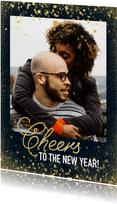 Neujahrskarte 'Cheers to the new year' mit Foto
