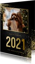 Neujahrskarte Foto & Jahreszahl Goldlook
