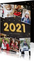 Neujahrskarte Fotocollage 2021 Folienballon