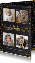 Neujahrskarte Fotocollage goldene 2020