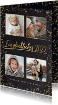Neujahrskarte Fotocollage goldene 2022