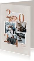 Neujahrskarte Fotocollage Kupfer 2021