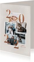 Neujahrskarte Fotocollage Kupfer 2022