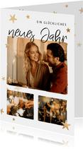 Neujahrskarte Fotos & Sterne