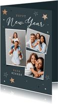 Neujahrskarte 'Happy New Year' Fotocollage