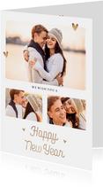 Neujahrskarte mit Fotocollage hip