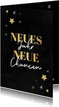 Neujahrskarte Neues Jahr, neue Chancen