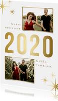 Neujahrskarte 'sparkle 2020' mit 2 Fotos
