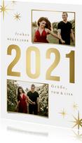 Neujahrskarte 'sparkle 2021' mit 2 Fotos