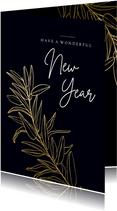 Neujahrskarte 'wonderful new year'