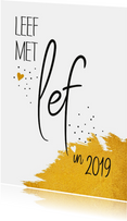 Nieuwjaar Leef met lef in 2019