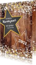 Nieuwjaar stoer en romantisch hout en sterren 2021