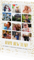 Nieuwjaars fotocollage jaarkaart terugblik met 12 foto's