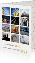Nieuwjaars fotocollage kaart 12 maanden terugblik