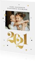 Nieuwjaarskaart 2021 goud sterren foto