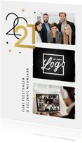 Nieuwjaarskaart 2021 zakelijk modern typografisch goud foto