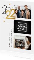 Nieuwjaarskaart 2022 zakelijk modern typografisch goud foto