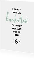 Nieuwjaarskaart bucketlist