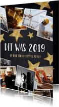 Nieuwjaarskaart fotocollage polaroids hoogtepunten 2019