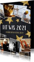 Nieuwjaarskaart fotocollage polaroids hoogtepunten 2021
