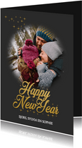Nieuwjaarskaart Happy New year love
