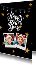 Nieuwjaarskaart Happy new year with stars