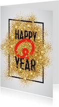 Nieuwjaarskaart Happy Q Year