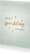 Nieuwjaarskaart mint sparkling