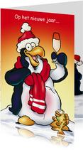 Nieuwjaarskaart Penguins Borrel