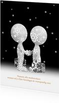 Nieuwjaarskaart relaties zw/w