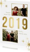 Nieuwjaarskaart sparkle '2019' 2 foto's