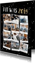 Nieuwjaarskaart terugblik op 2019 fotocollage polaroid