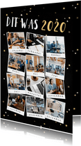 Nieuwjaarskaart terugblik op 2020 fotocollage polaroid