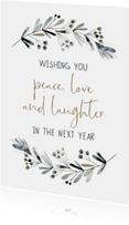 Nieuwjaarskaart waterverf Wishes
